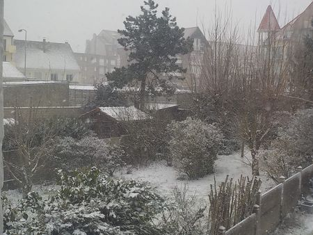 Bray-Dunes sous la neige.