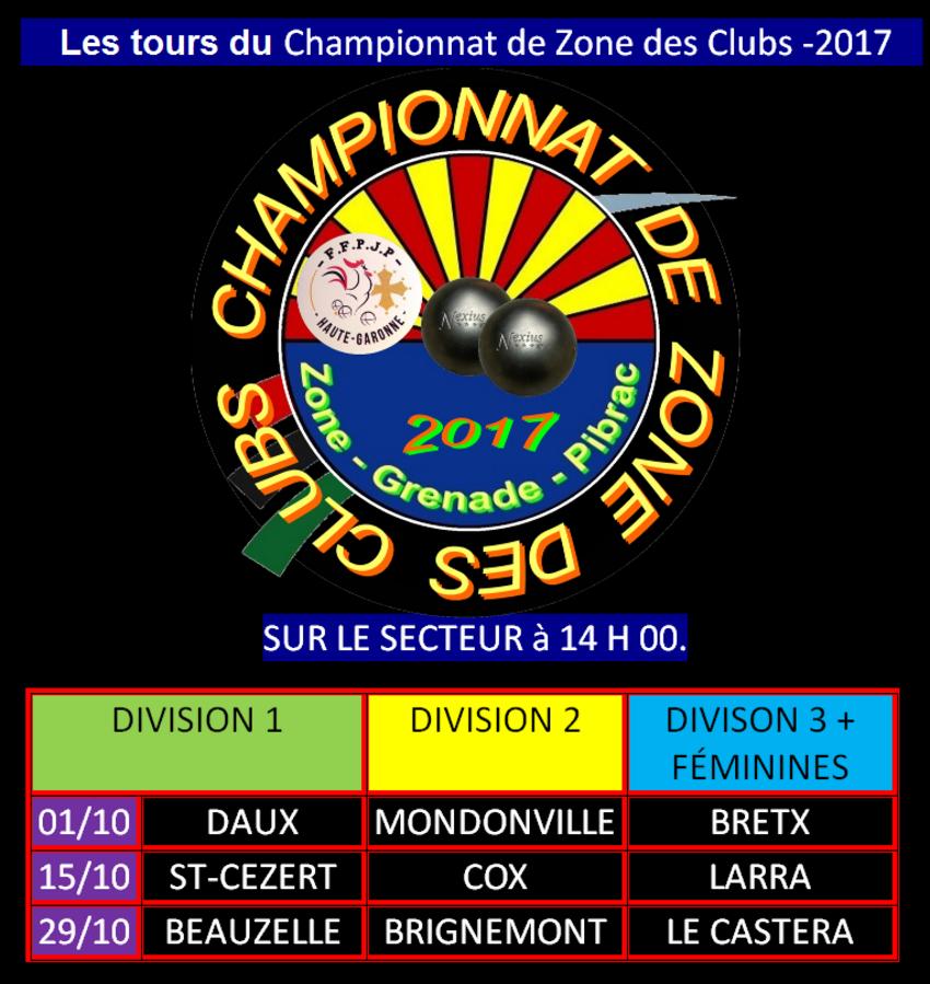 Les Tours du C.Z.C D2+FEMININES et toutes divisions sur le secteur de Grenade.