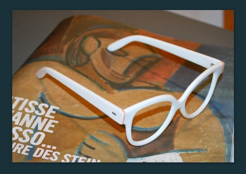 lunette blanche / crème fraiche