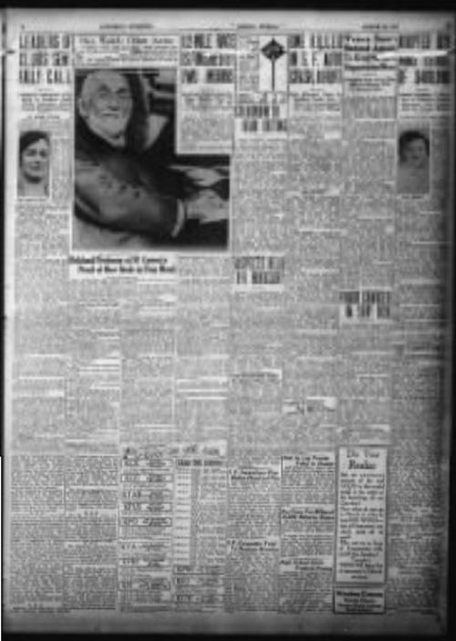morceau d'une brochure de journal (Oakland Tribune, California, page 3 (March 26, 1927))