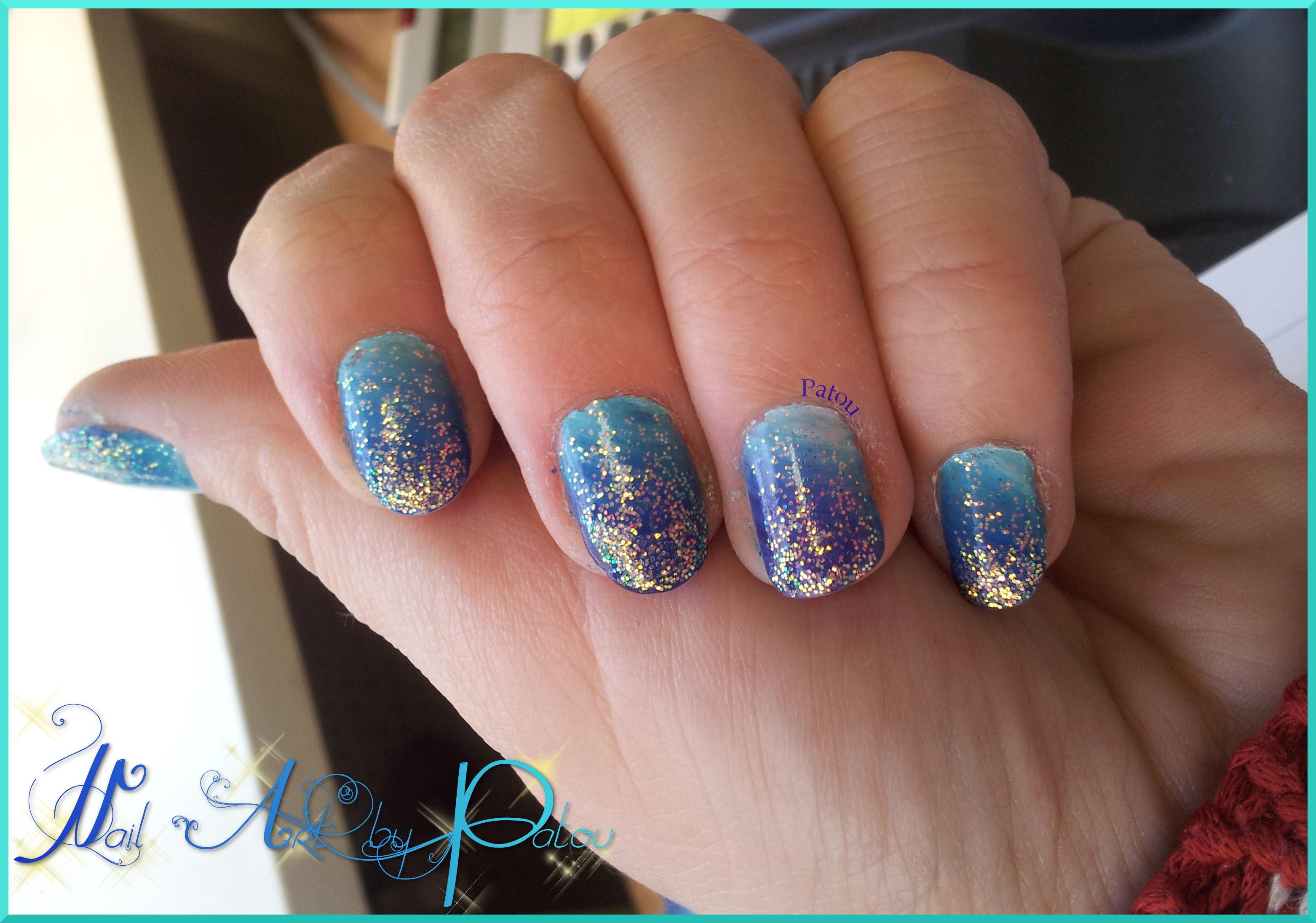 nail art degrade paillettes