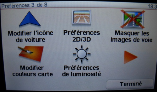 Changer l'icône de navigation de votre GPS