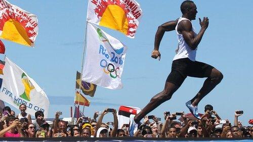 Le magnifique retour de Bolt à Copacabana à Rio