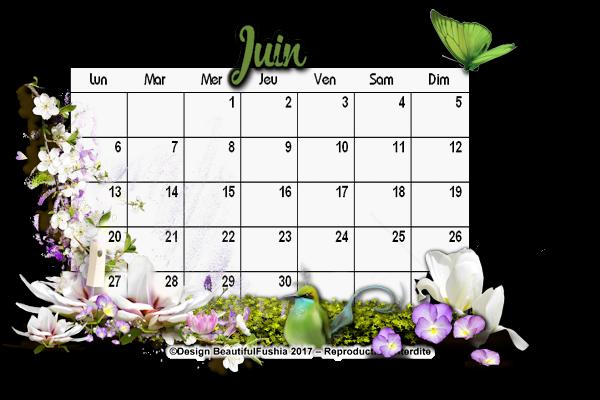 1 Calendrier - Juin
