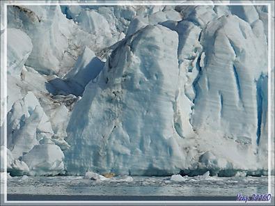 Plus qu'un Zodiac à l'eau, dernier coup d'œil sur le paysage avant d'appareiller, et je retrouve un des deux ours qui paraît effectivement très maigre - Croker Bay - Devon Island - Nunavut - Canada