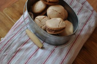 Macarons au chocolat noir et Fleur de sel