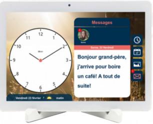BBrain G2 : Horloge calendrier vocale, rappel de tâches, rdv, prise de médicaments, réception de photos et appels en visio programmés depuis un smartphone