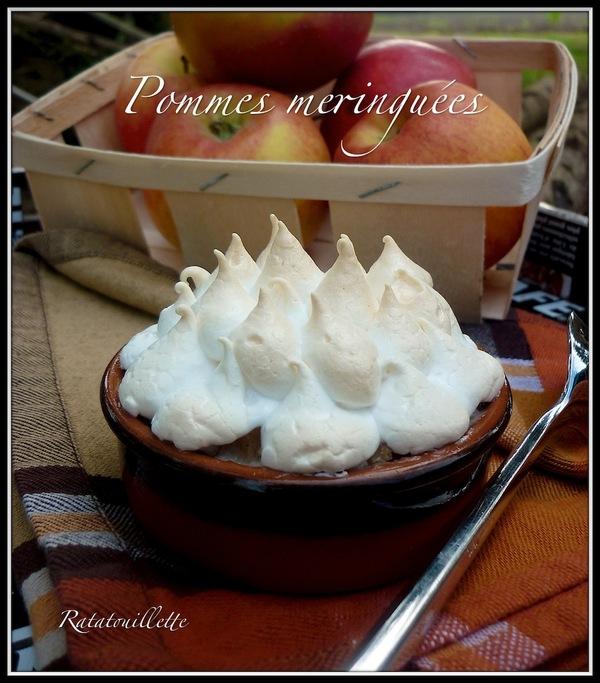 Pommes meringuées