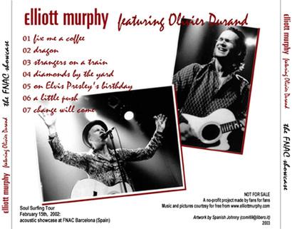 Ze Frenche ouique - Jour 7 - Elliott Murphy - aperçus live...