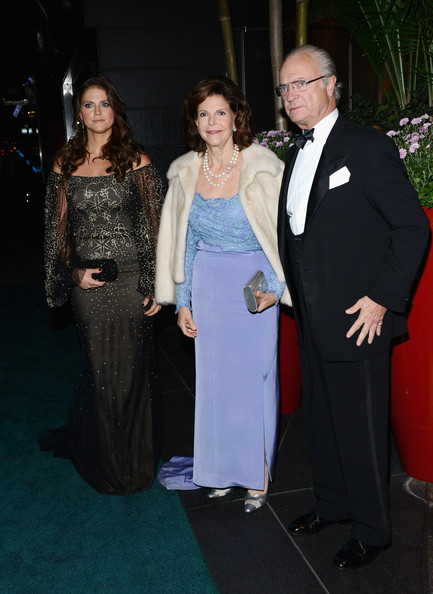 Silvia, Madeleine et Carl Gustav à une soriée de gala à NY