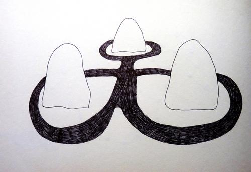 Carnet (dessins d'espaces (3))...