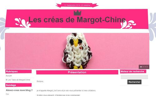 Le blog de la zèbrette : Margot-Chine