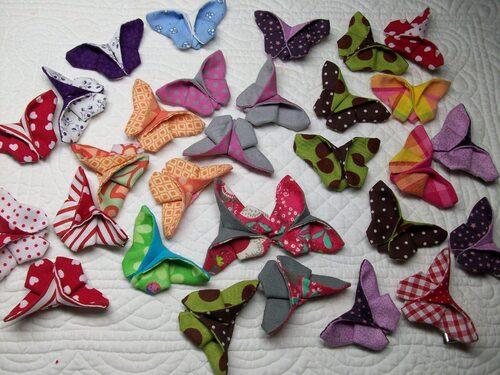 Barrettes papillon en origami