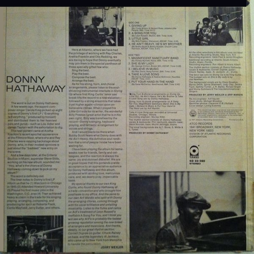 "Donny Hathaway : Album "" Donny Hathaway "" Atco Records SD 33-360 [ US ]"