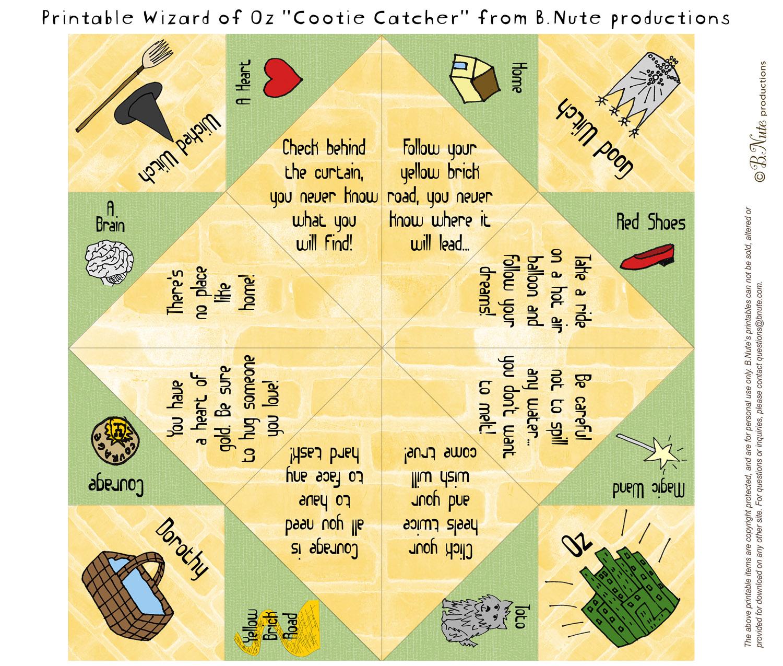 Esl Games Cootie Catcherspaper Fortune Tellers Salt Cellars