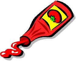 le ketchup......