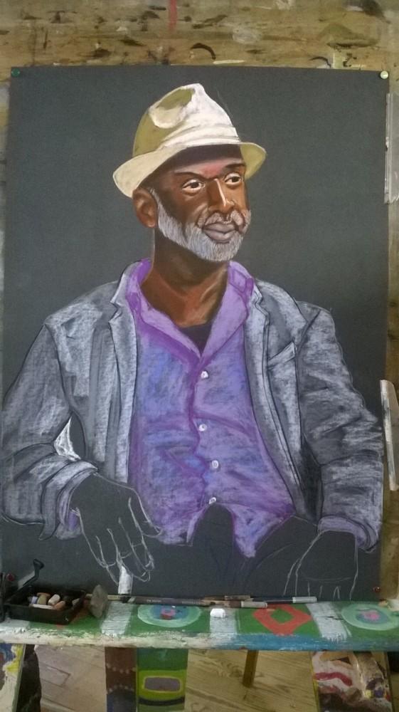 Samedi - Portrait aux pastels secs : Odilho (3)