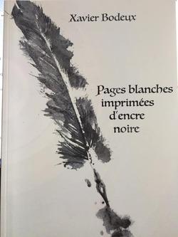 Pages blanches imprimées d'encre noire - Xavier Bodeux  @ChloedesLys
