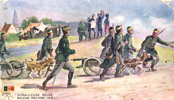 La Belgique envahie par les Allemands en 1914.