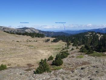 Au début de la descente, vue vers le Nord et les Corbières