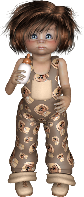 Tubes cookies marron