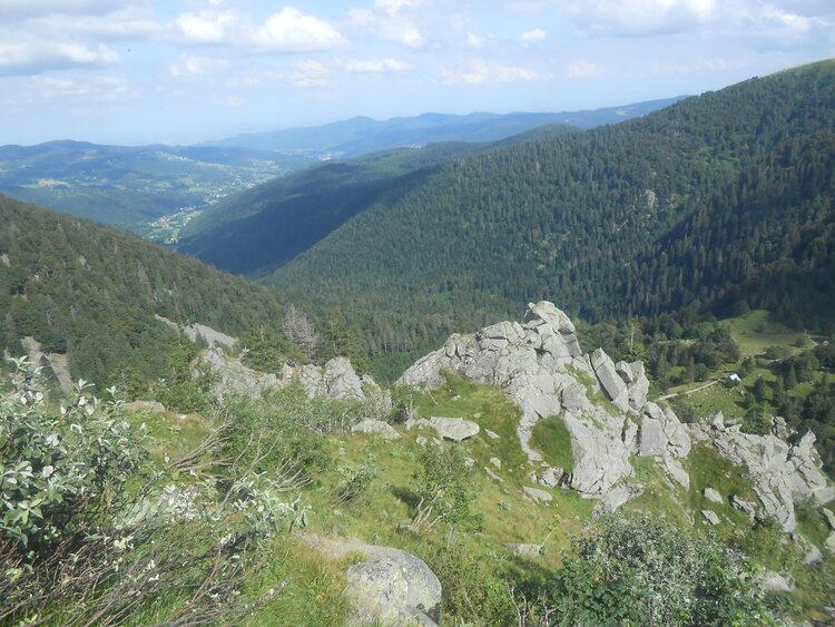 Vosges- les falaises de la Martinswand