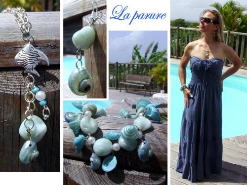 Parure de bijoux inspirée par la Guadeloupe
