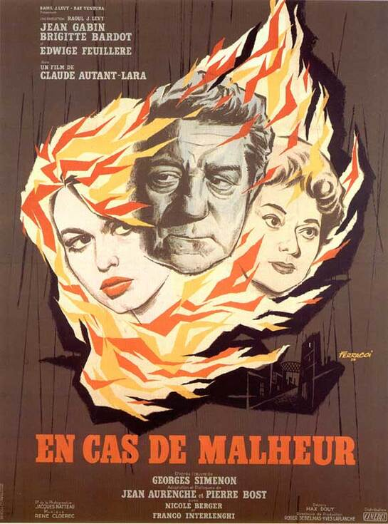 EN CAS DE MALHEUR -  JEAN GABIN BOX OFFICE 1958