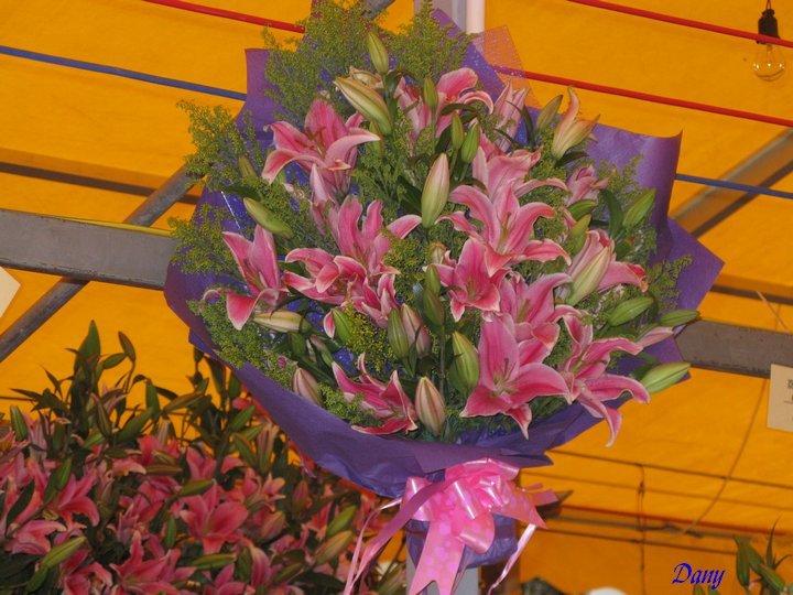 Marché aux fleurs en Chine à Guangzhou