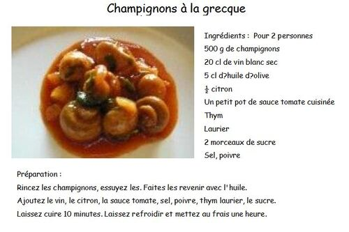 Idées de menus - Vendredi 24 mai 2013