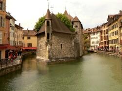 Annecy, le Thiou et le Palais de l'isle