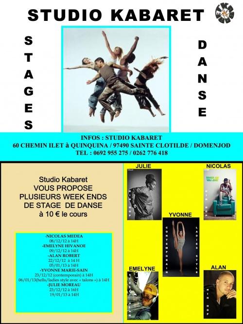 Les Stages de Danse en Décembre 2012