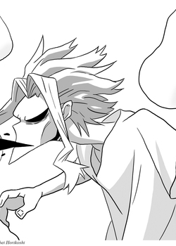 All Might Noir et Blanc