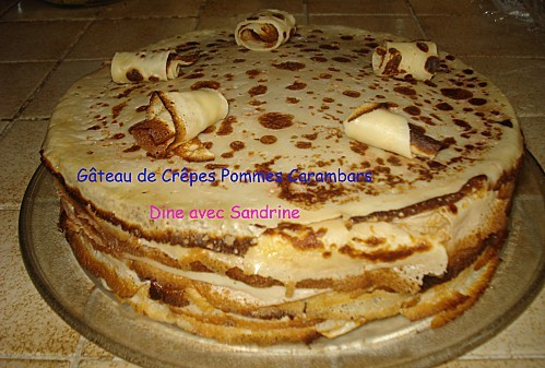 Gâteau de Crêpes Carambars Pommes 4