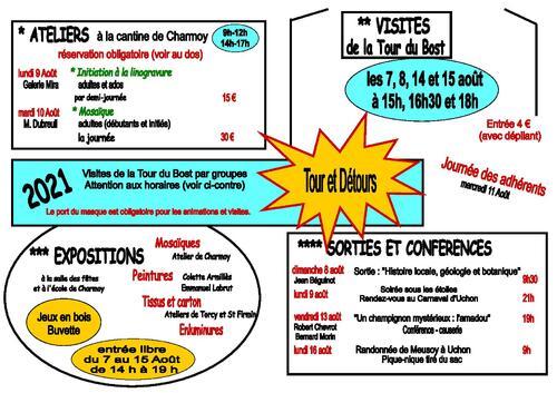 """Semaine d'activités """"Tour et Détours"""" à Charmoy"""