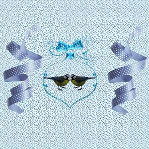 Fond de blog Mésanges bleues