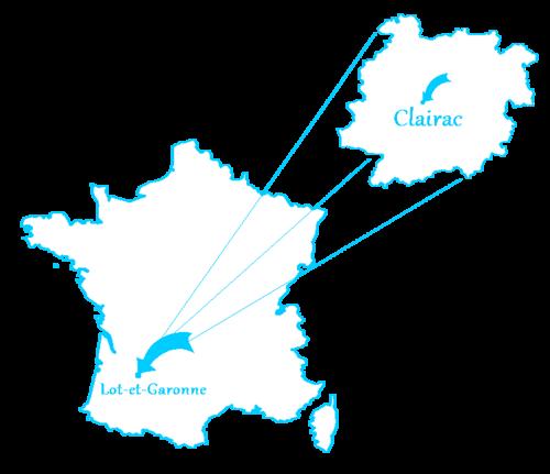 Le village de Clairac