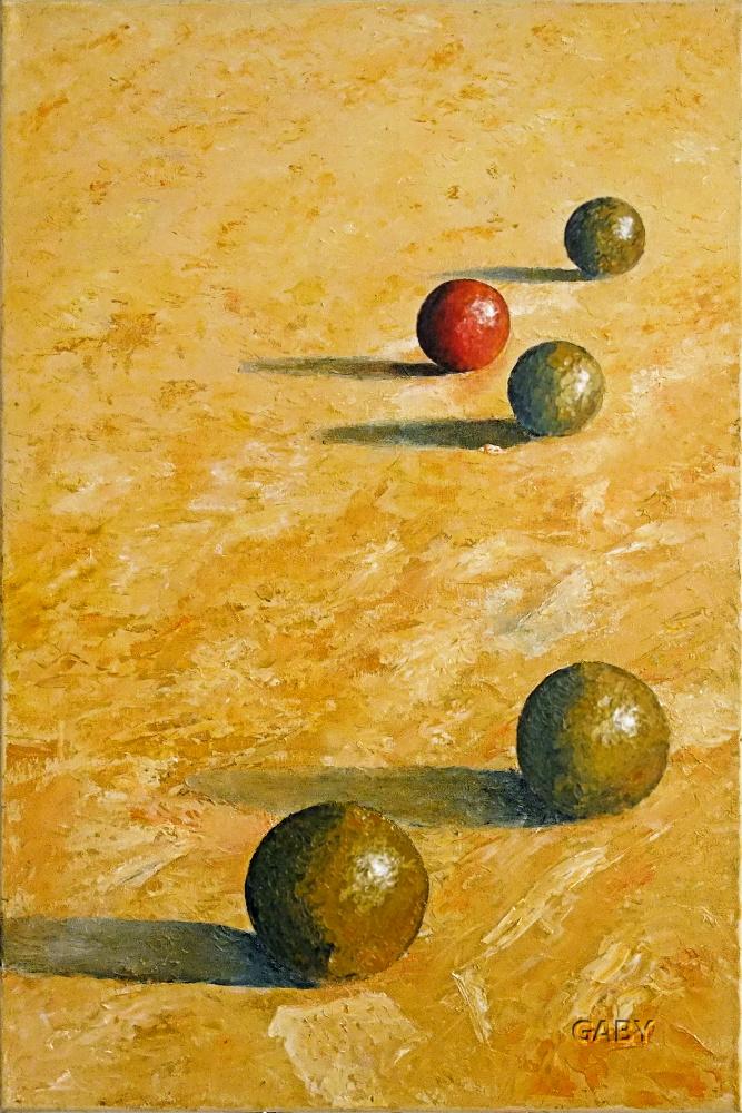 Peinture Boules