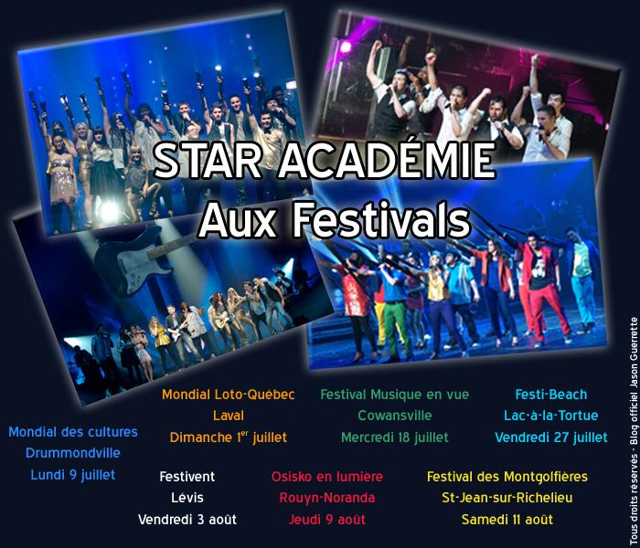 Star académie aux festivals !