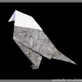 Origami zendoodle : l'oiseau traditionnel