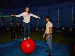 Deuxième séance d'ateliers cirque