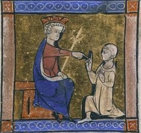 Miniature représentant l'empereur Andronic