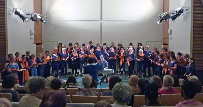 Ma chorale en concert à la crypte de Sainte-Anne (juin 2015)