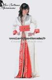 Takchita-marocaine-rouge-et balnc cassé en ligne et sur mesure pour votre mariage oriental TAK-S921