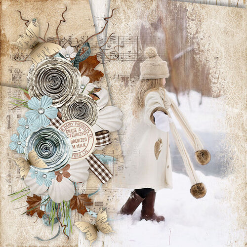 Deep in the Forest creation page scrapbooking by dentelle scrap