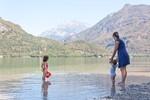 Baignade au lac de Cavazzo