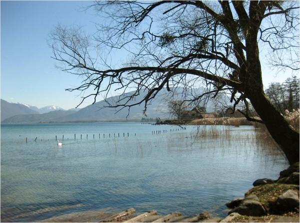 Sevrier, au bord du Lac d'Annecy