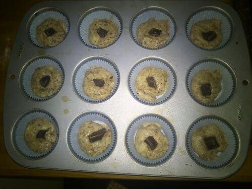 Muffins gourmand lait de coco/copeaux de chocolat