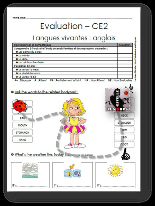 Evaluations d'anglais
