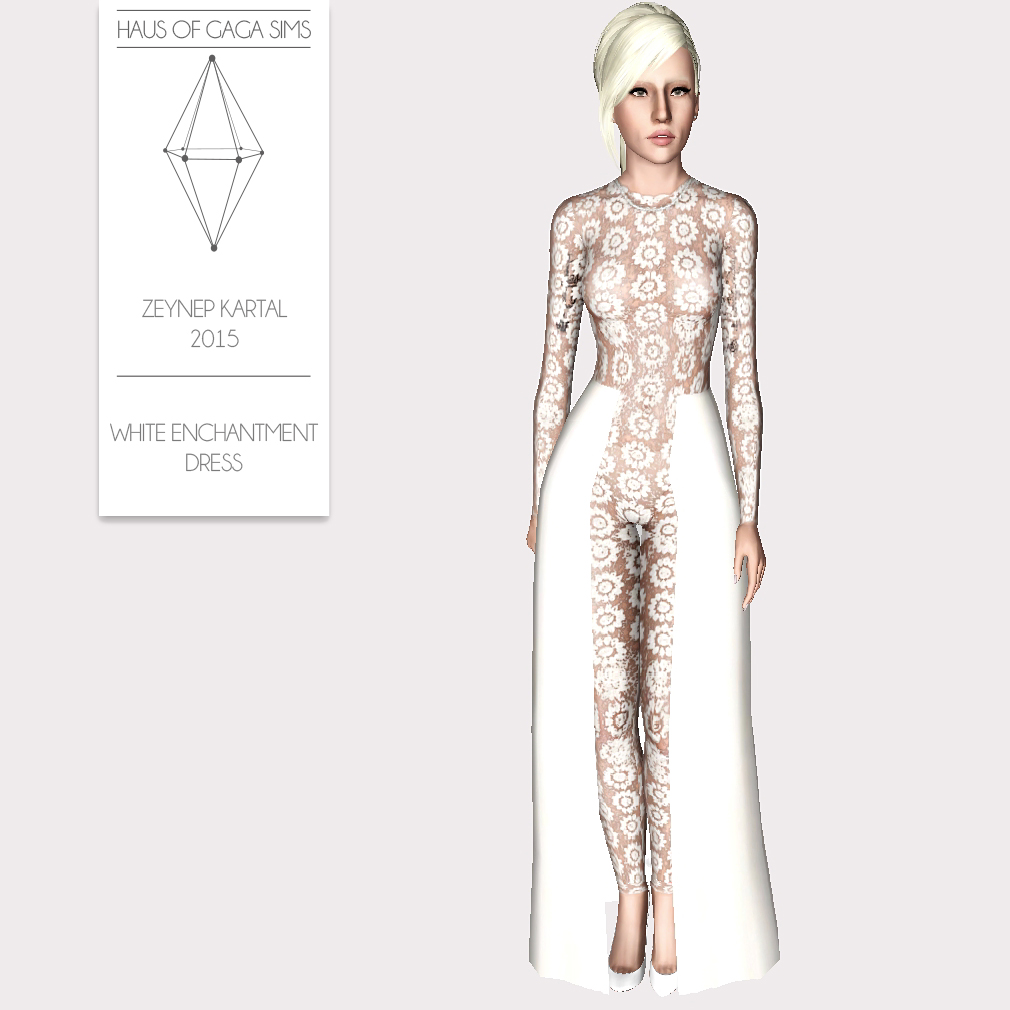 ZEYNEP KARTAL 2015 WHITE ENCHANTMENT DRESS